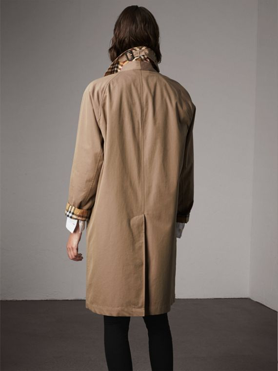 The Camden Car Coat in Taupe Brown - Women | Burberry - cell image 2