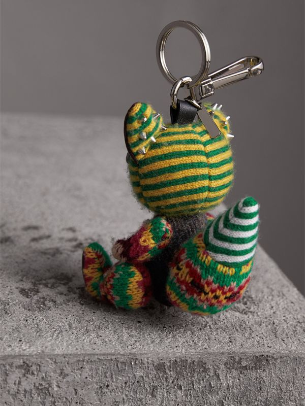 Dave The Fox Cashmere Charm in Green | Burberry United Kingdom - cell image 3