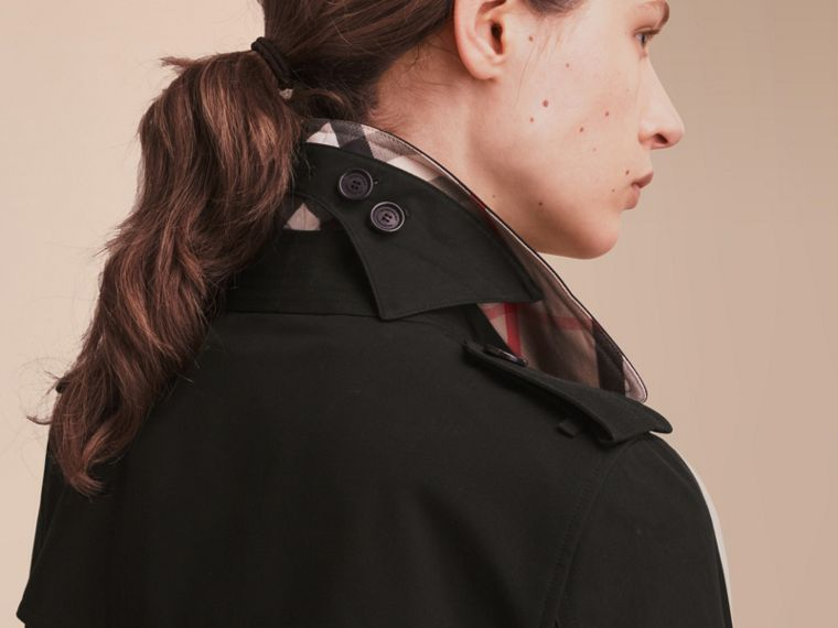 The Kensington – Extra-long Heritage Trench Coat Black - cell image 4