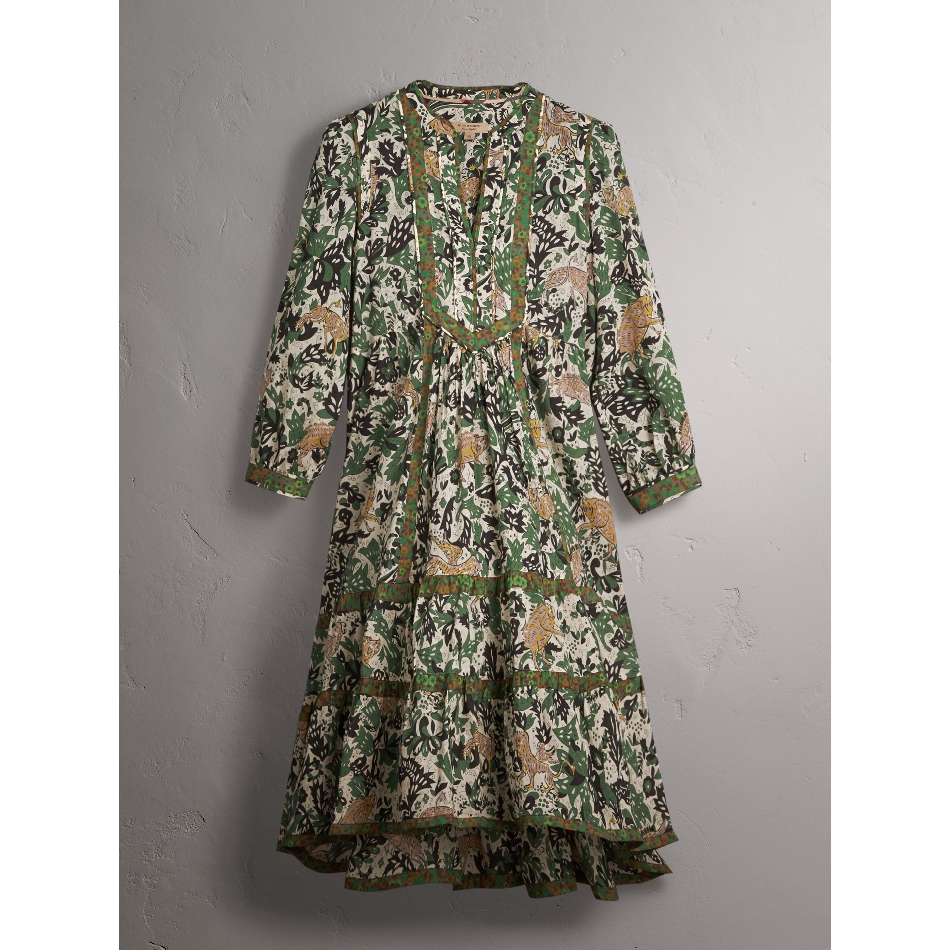 Beasts Print Cotton Day Dress - Women | Burberry - gallery image 4