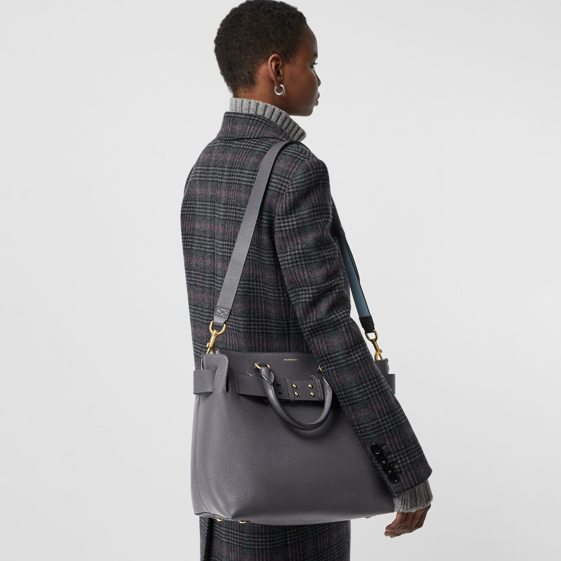 The Medium Leather Belt Bag in Charcoal Grey - Women | Burberry - gallery image 3