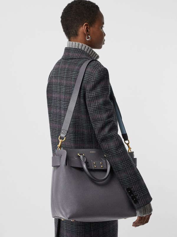 The Medium Leather Belt Bag in Charcoal Grey - Women | Burberry - cell image 3
