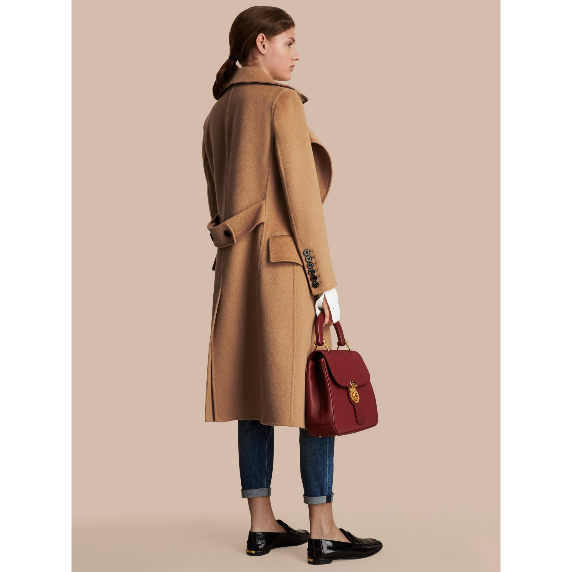 Draped Front Camel Hair and Wool Tailored Coat - Women | Burberry Canada - gallery image 3