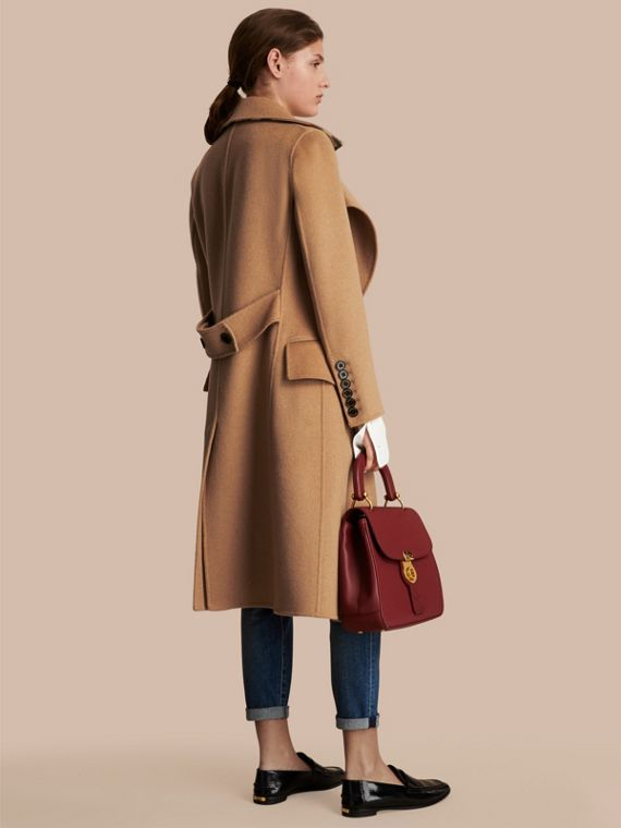 Draped Front Camel Hair and Wool Tailored Coat - Women | Burberry - cell image 2