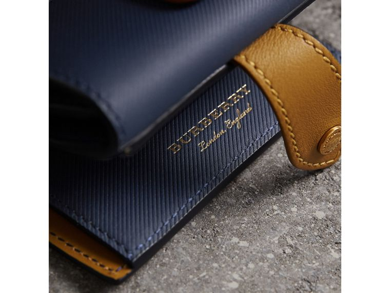 Two-tone Trench Leather Wallet in Ink Blue/ochre Yellow - Women | Burberry United Kingdom - cell image 1