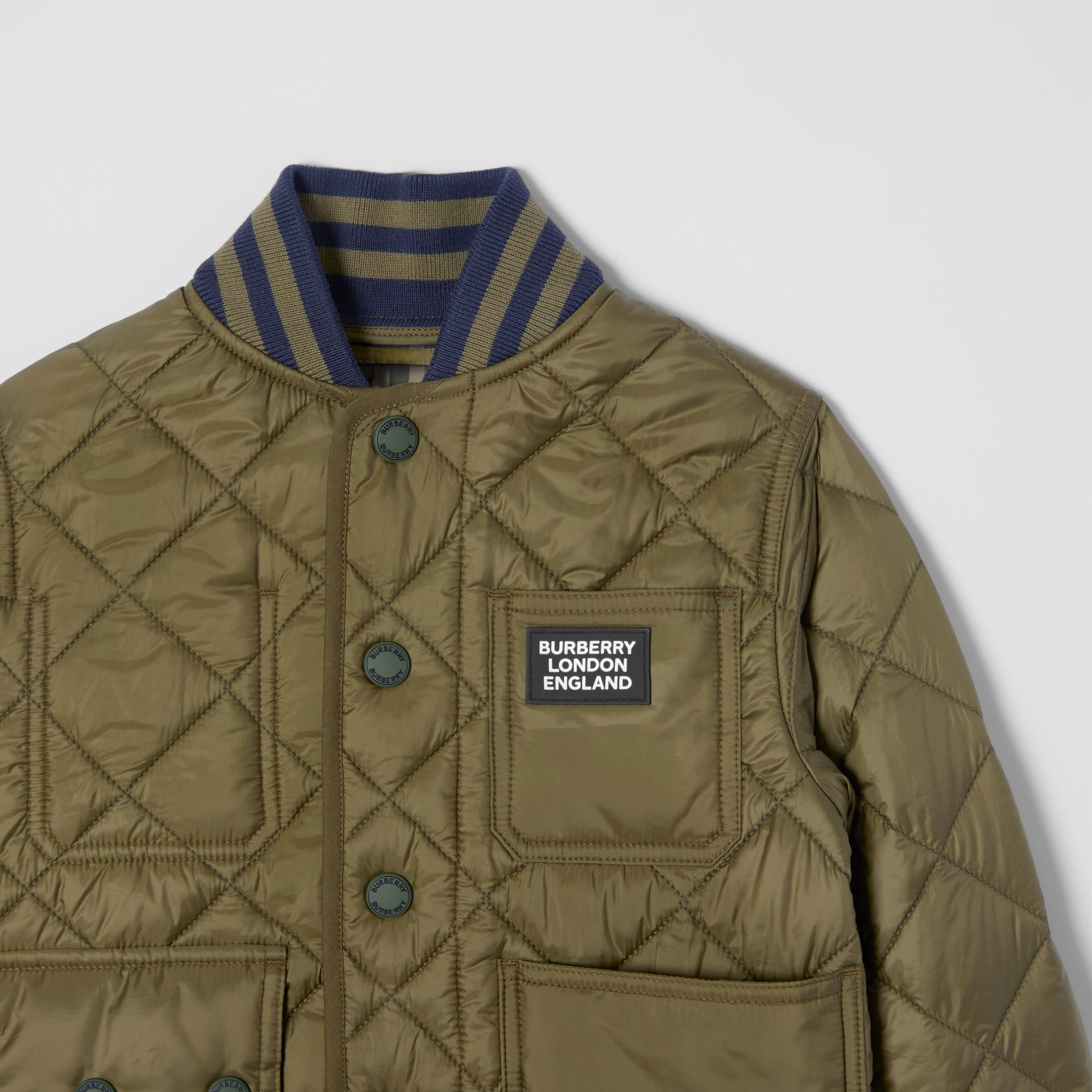 Recycled Polyester Diamond Quilted Jacket in Oregano | Burberry - gallery image 4