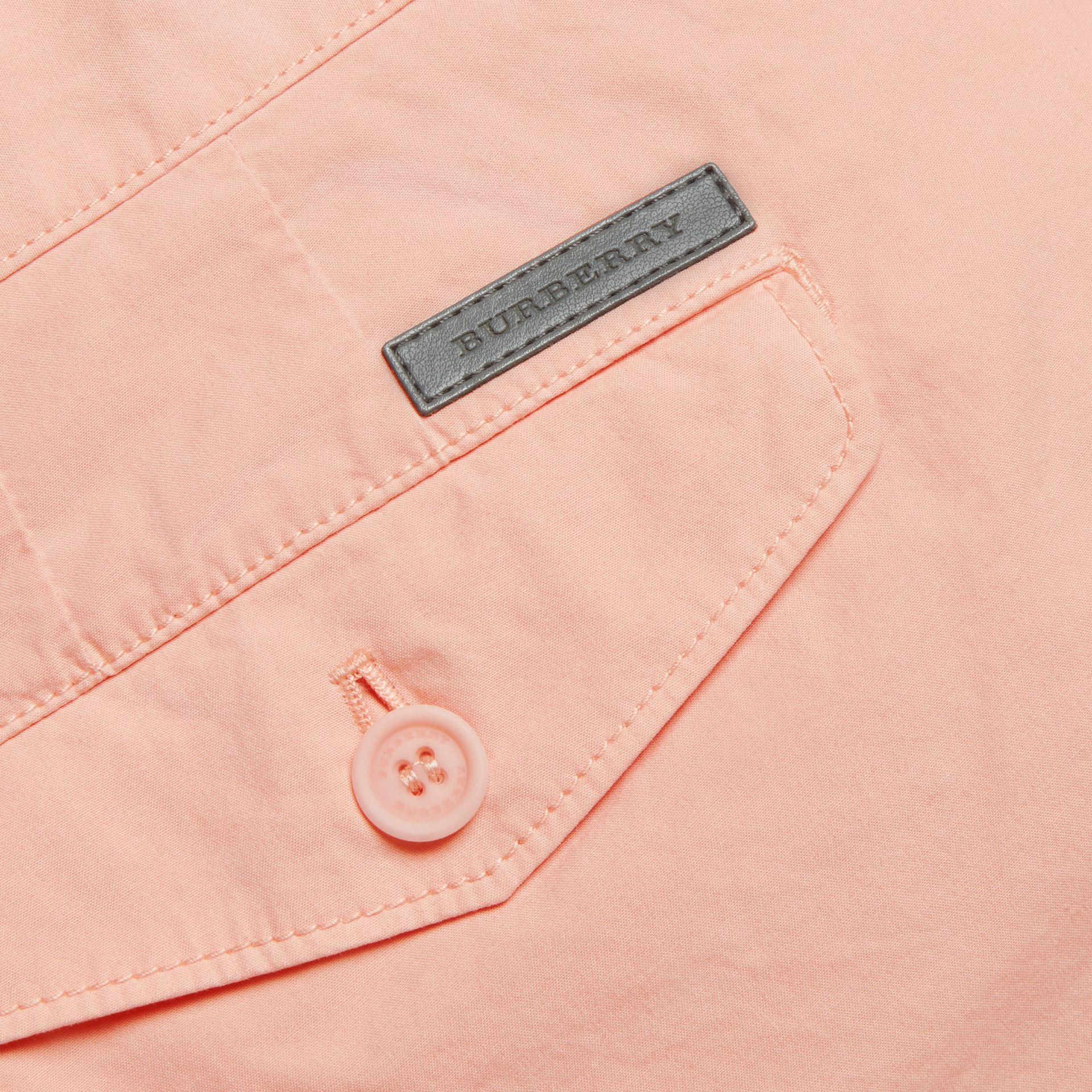 Slim Fit Cotton Poplin Chinos Apricot Pink - gallery image 2