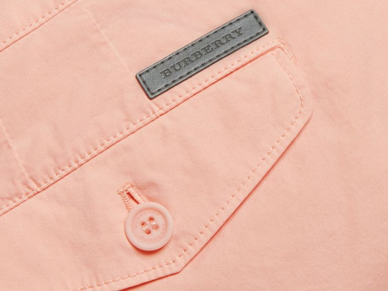 Slim Fit Cotton Poplin Chinos Apricot Pink - cell image 1