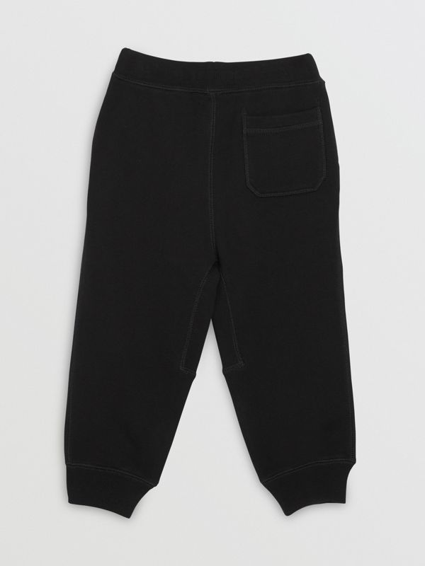 Cotton Jersey Trackpants in Black | Burberry United Kingdom - cell image 3