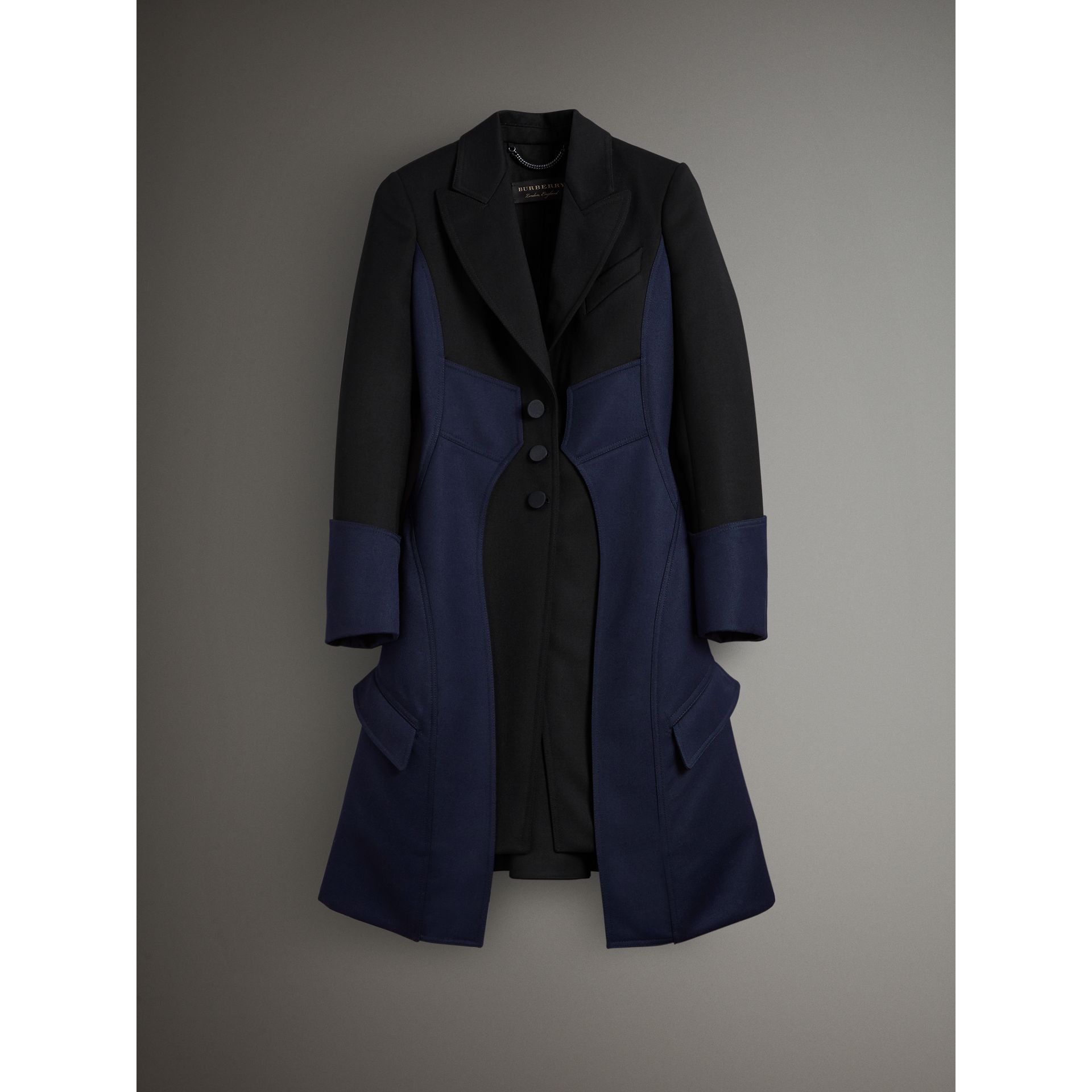 Wool Dressage Coat in Black - Women | Burberry United Kingdom - gallery image 3