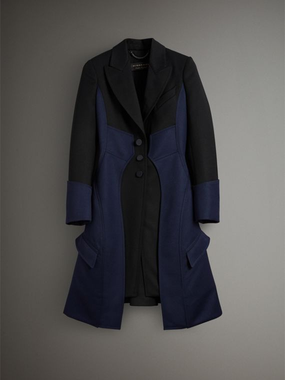Wool Dressage Coat in Black - Women | Burberry Australia - cell image 3