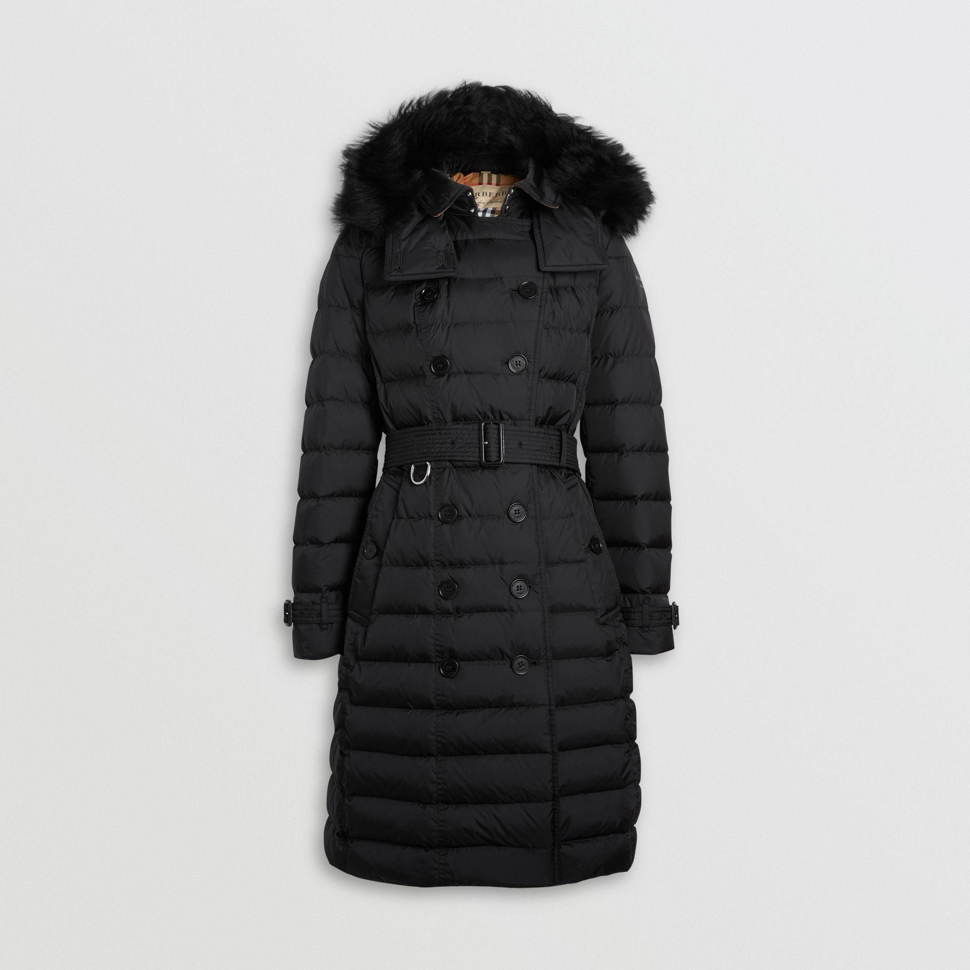 Detachable Hood Down-filled Puffer Coat in Black - Women | Burberry United States - gallery image 3