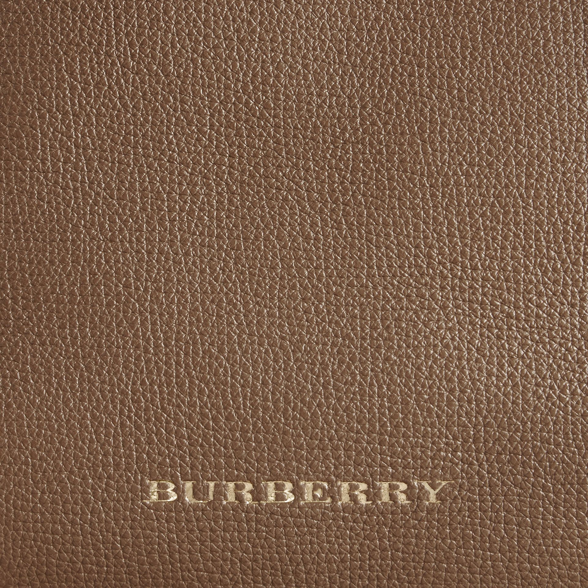 House Check and Leather Baby Changing Bag in Taupe Grey | Burberry Australia - gallery image 2