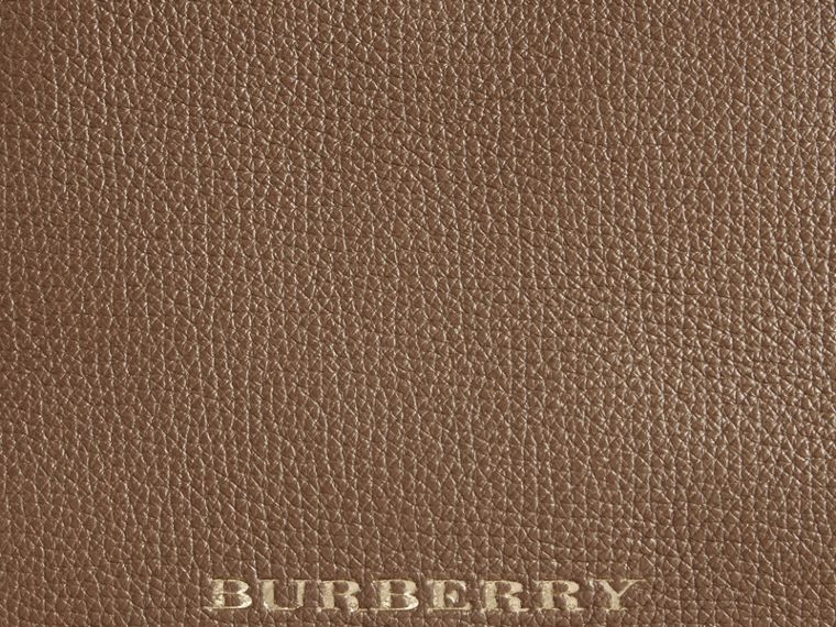 House Check and Leather Baby Changing Bag in Taupe Grey | Burberry Australia - cell image 1