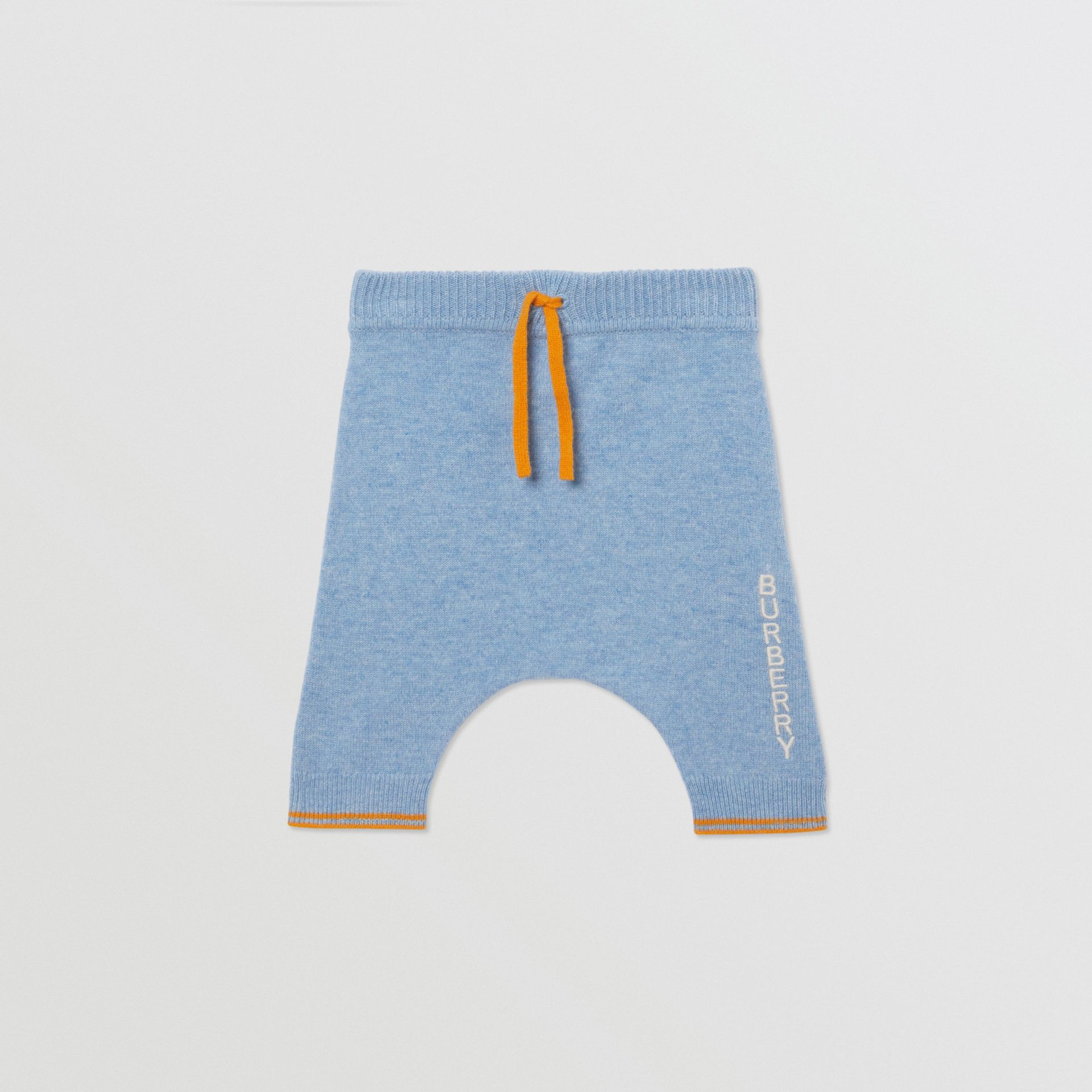 Bear Intarsia Wool Cashmere Two-piece Baby Gift Set in Pale Blue - Children | Burberry United Kingdom - gallery image 3