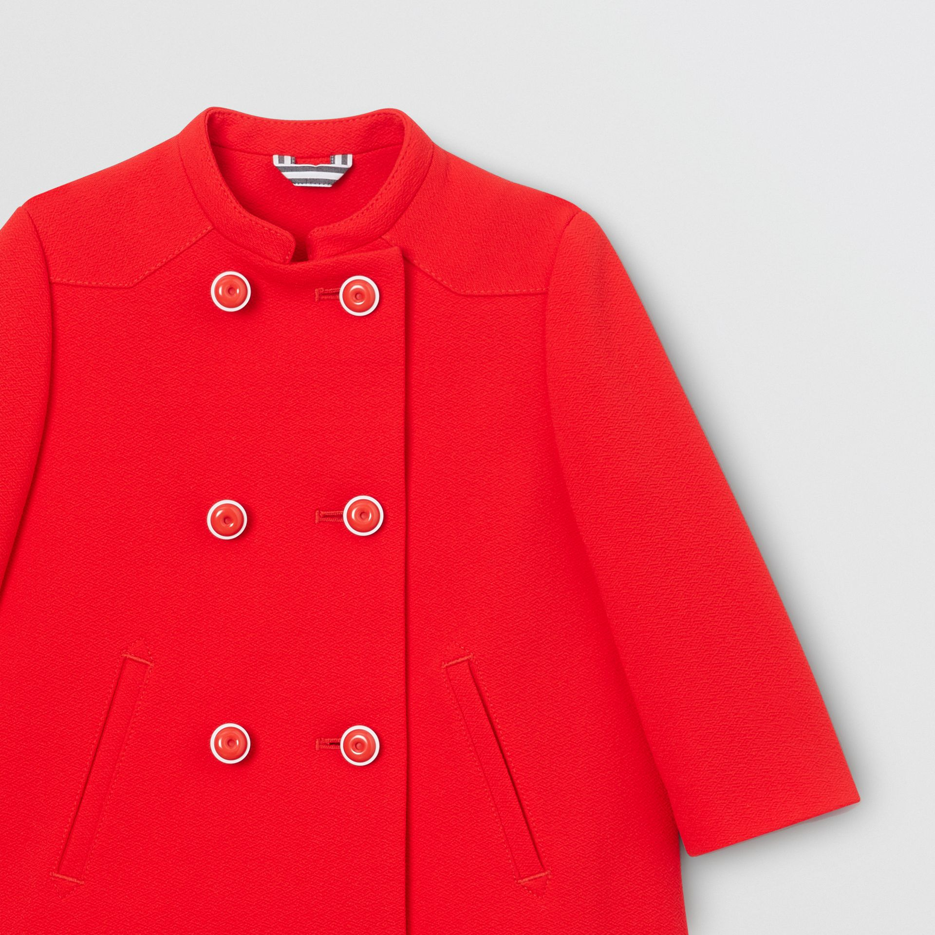 Crepe Jersey Swing Coat in Bright Red - Children | Burberry - gallery image 4
