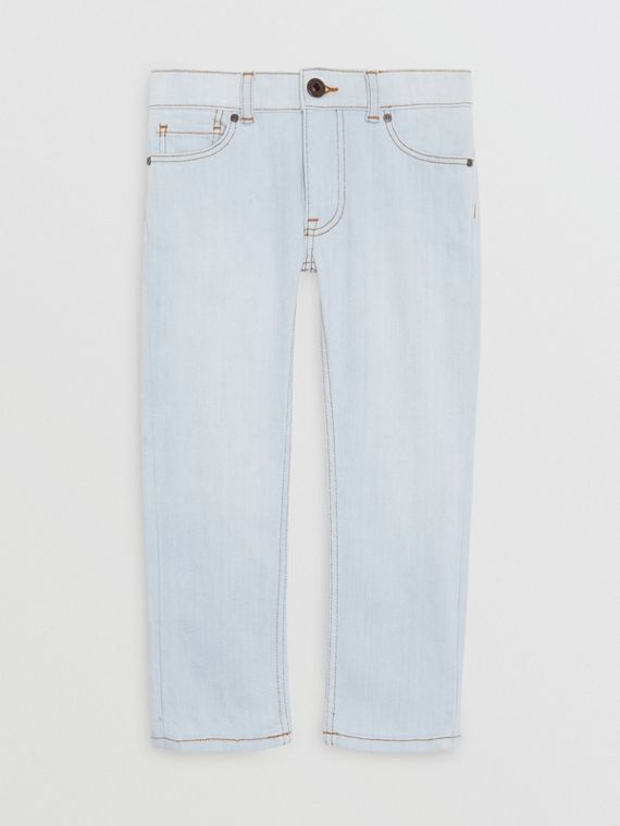 Skinny Fit Stretch Jeans in Light Blue