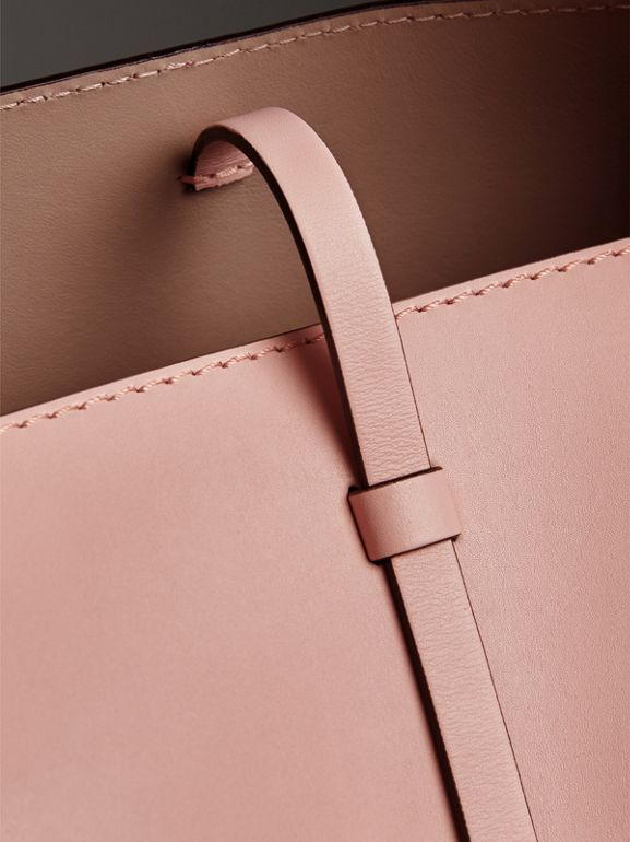 The Small Leather Bucket Bag in Pale Ash Rose - Women | Burberry - cell image 1