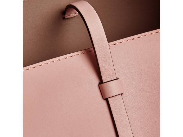 The Small Leather Bucket Bag in Pale Ash Rose - Women | Burberry United Kingdom - cell image 1