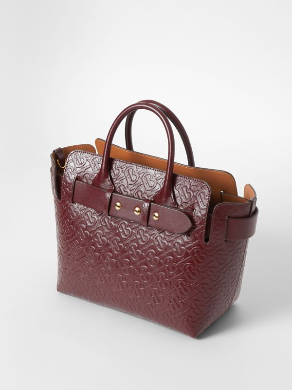 Borsa The Belt piccola in pelle con monogramma e tre borchie (Rosso Sanguigno) - Donna | Burberry - cell image 3