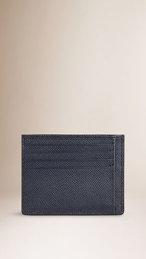 Navy London Leather Card Case - Image 2