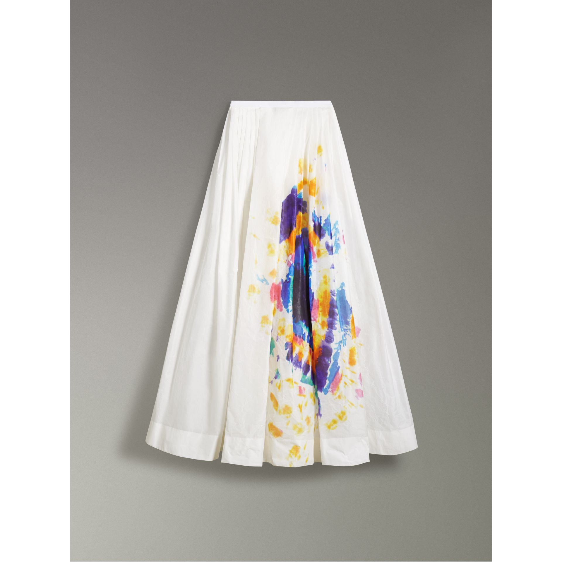 Tie-dye Print Maxi Skirt in Multi-bright Blue - Women | Burberry United States - gallery image 3