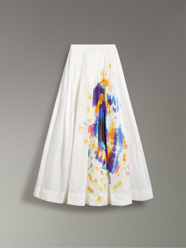 Tie-dye Print Maxi Skirt in Multi-bright Blue - Women | Burberry United Kingdom - cell image 3