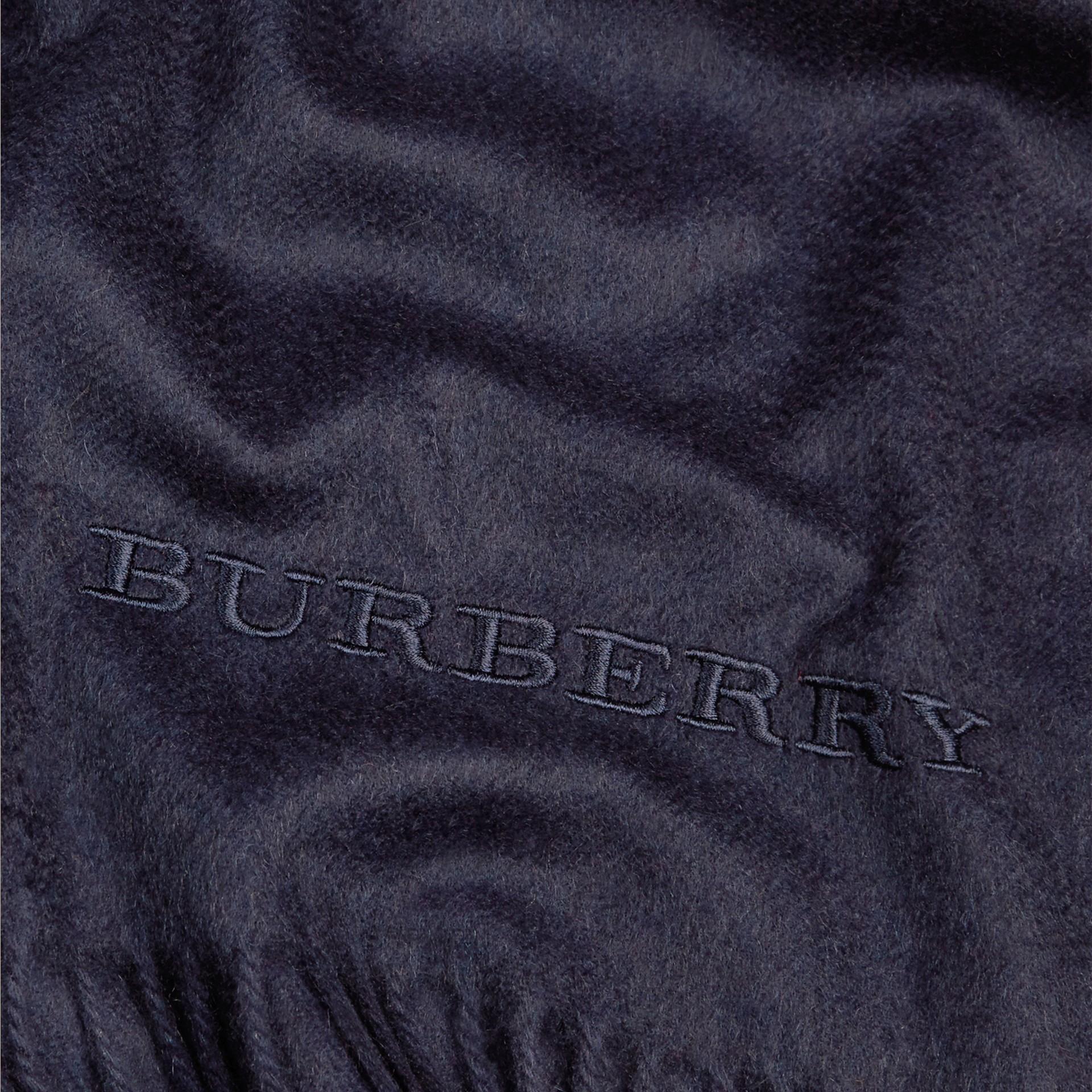 Indigo blue Cashmere Blanket Indigo Blue - gallery image 2