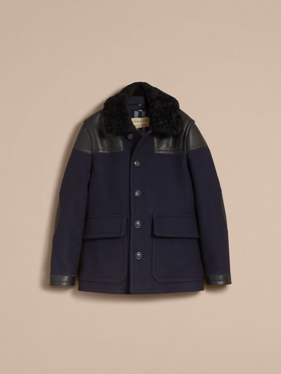 Pea Coat with Detachable Shearling Topcollar - cell image 3