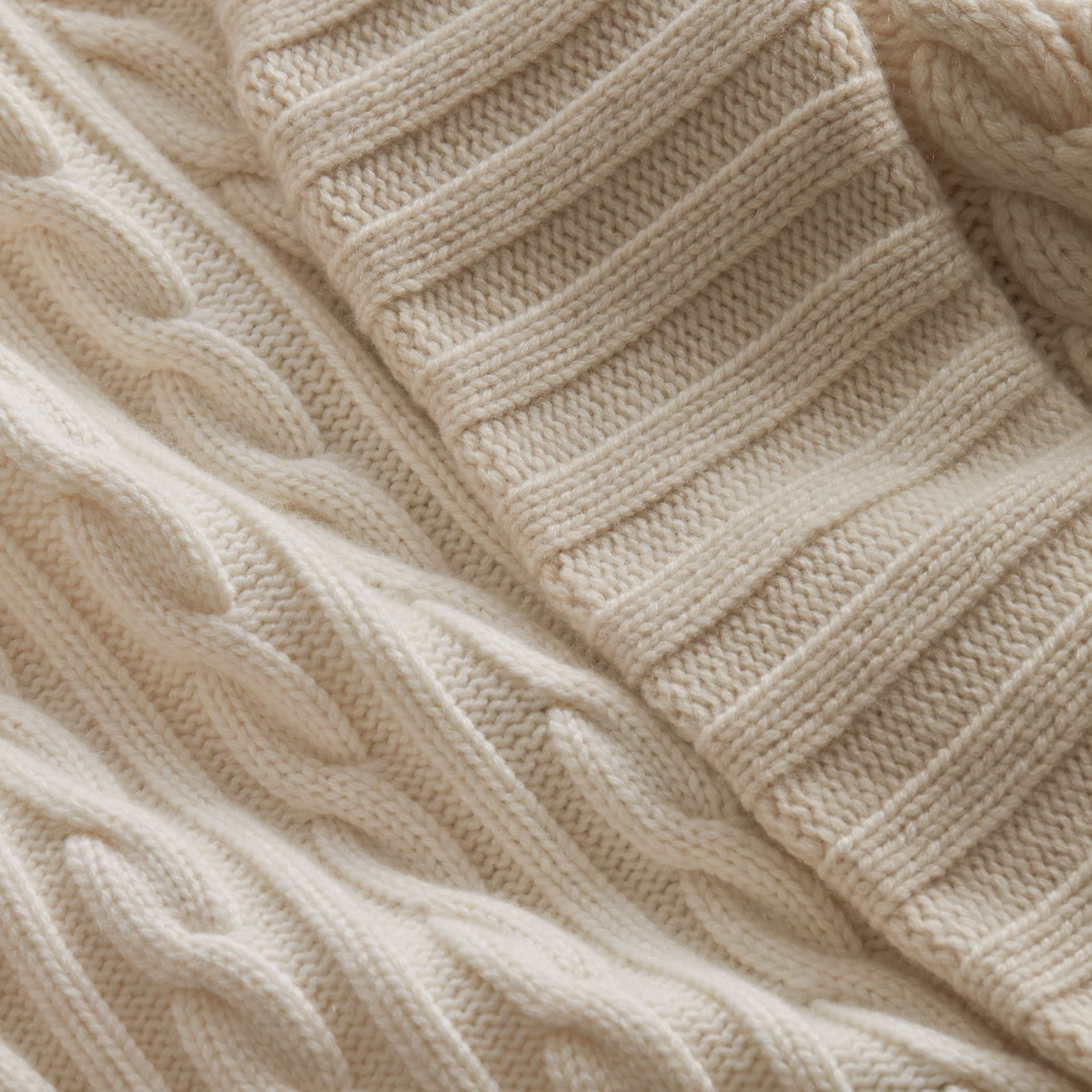 Panelled Cashmere, Cotton and Wool Sweater in Natural White - Women | Burberry Canada - gallery image 2
