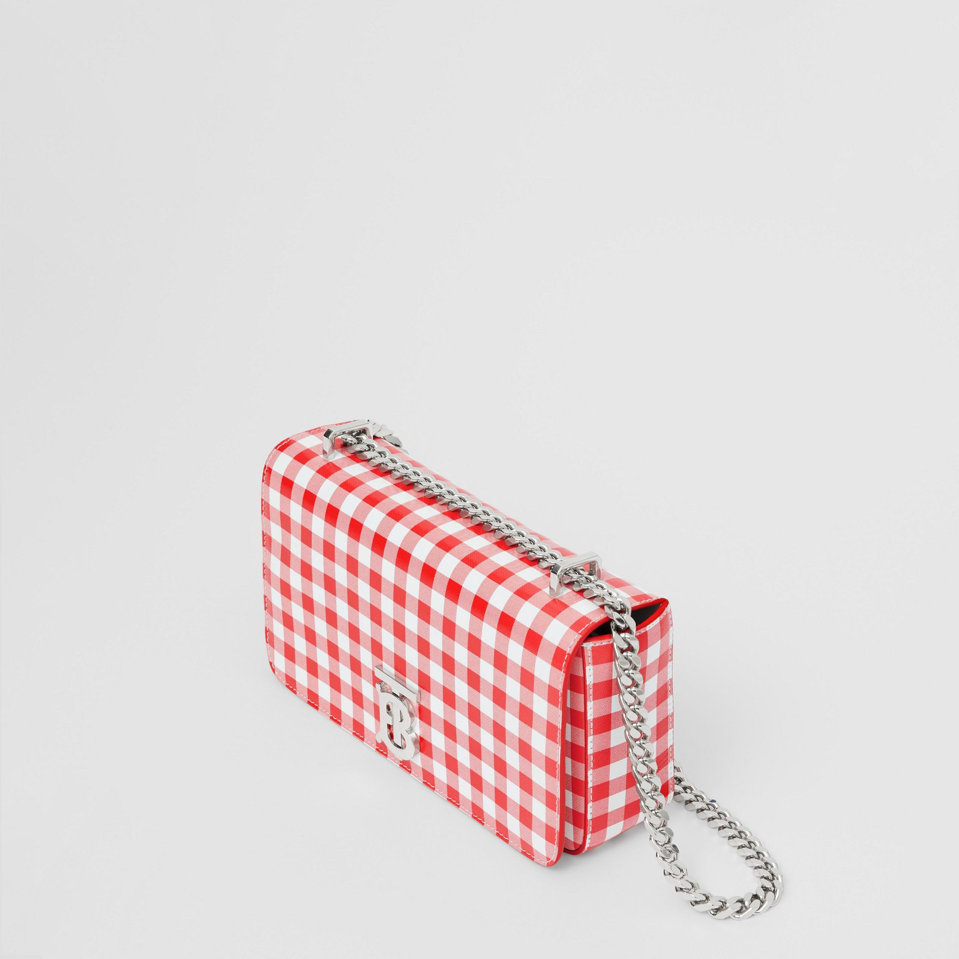 Small Gingham Leather Lola Bag in Red - Women | Burberry - gallery image 2