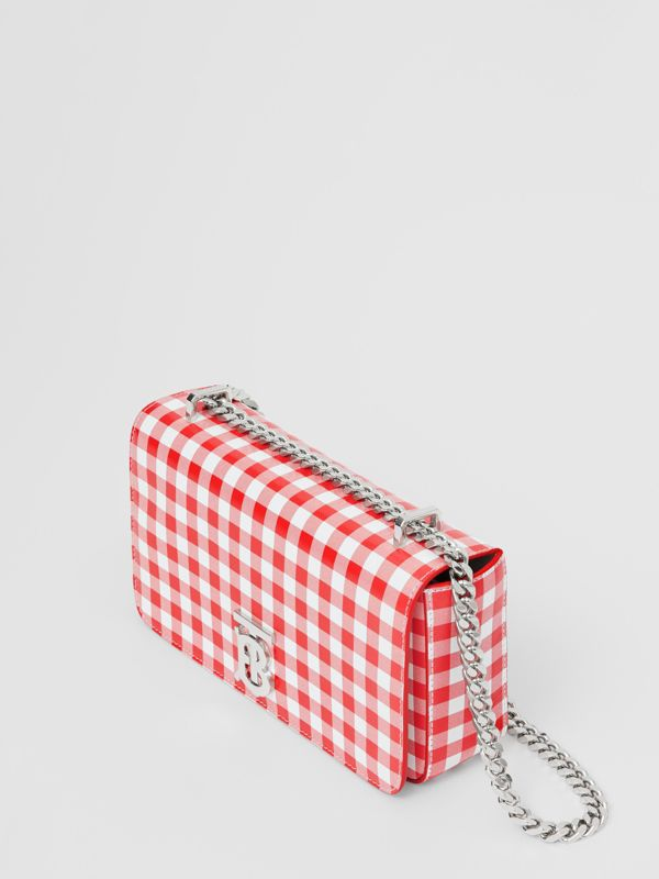 Small Gingham Leather Lola Bag in Red - Women | Burberry - cell image 2