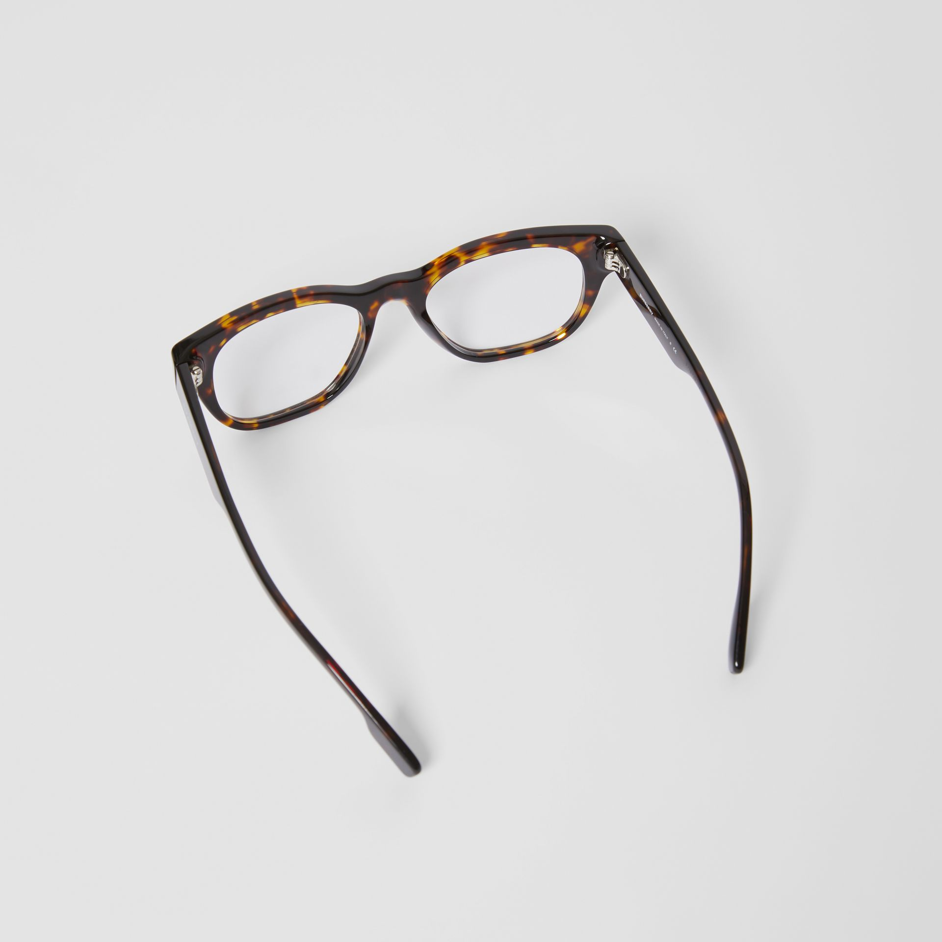 Square Optical Frames in Tortoiseshell - Men | Burberry - gallery image 4