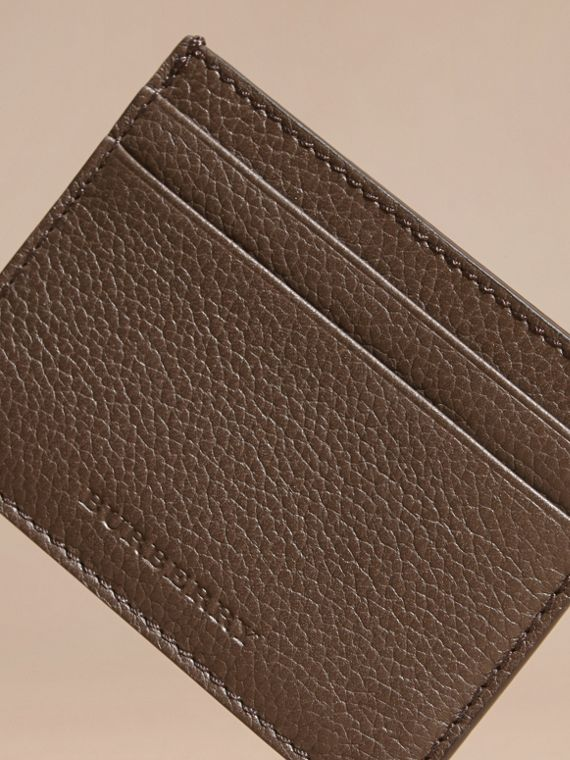Deep taupe brown Grainy London Leather Card Case Deep Taupe Brown - cell image 2