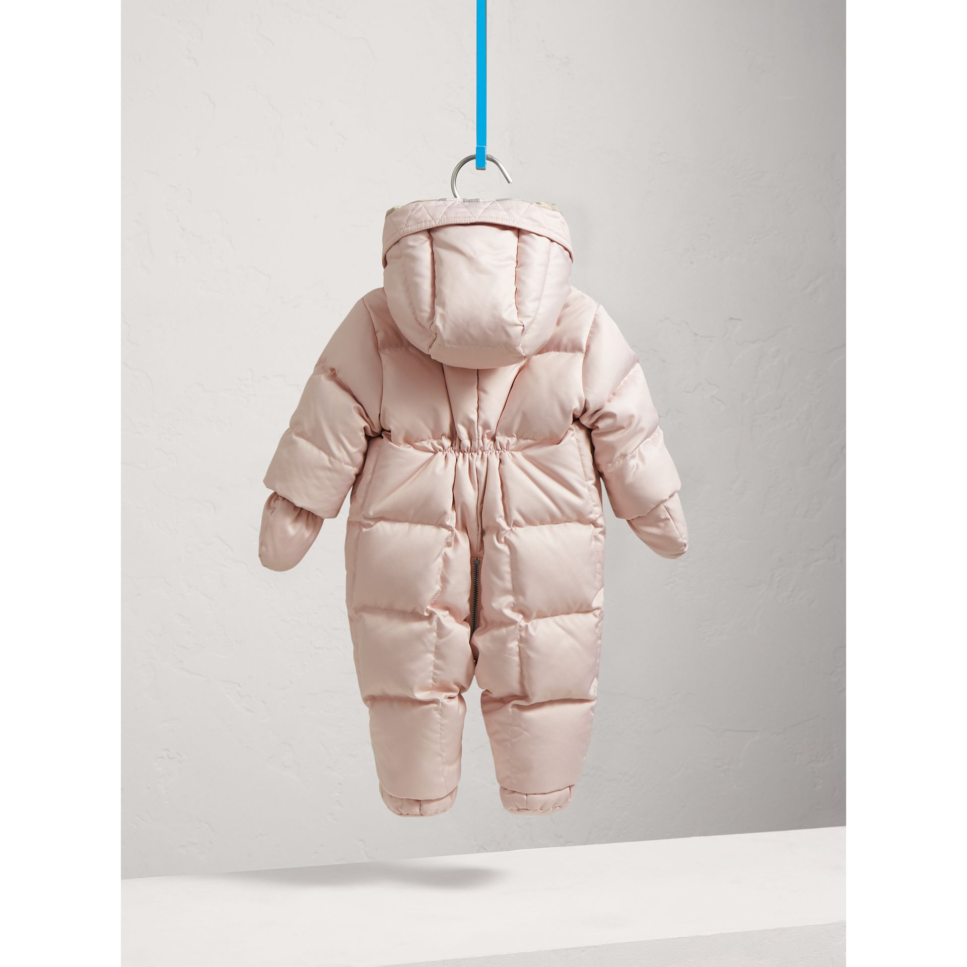 Down-filled Puffer Suit in Powder Pink | Burberry - gallery image 4
