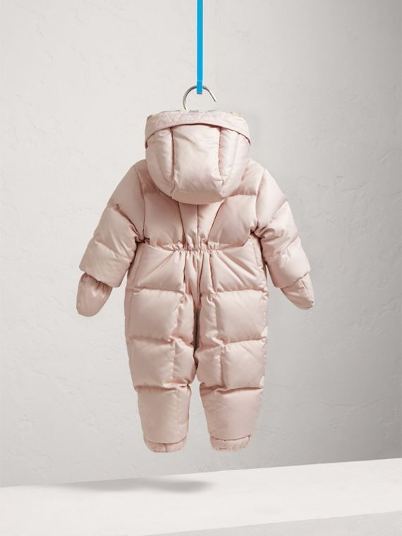 Down-filled Puffer Suit in Powder Pink | Burberry - cell image 3