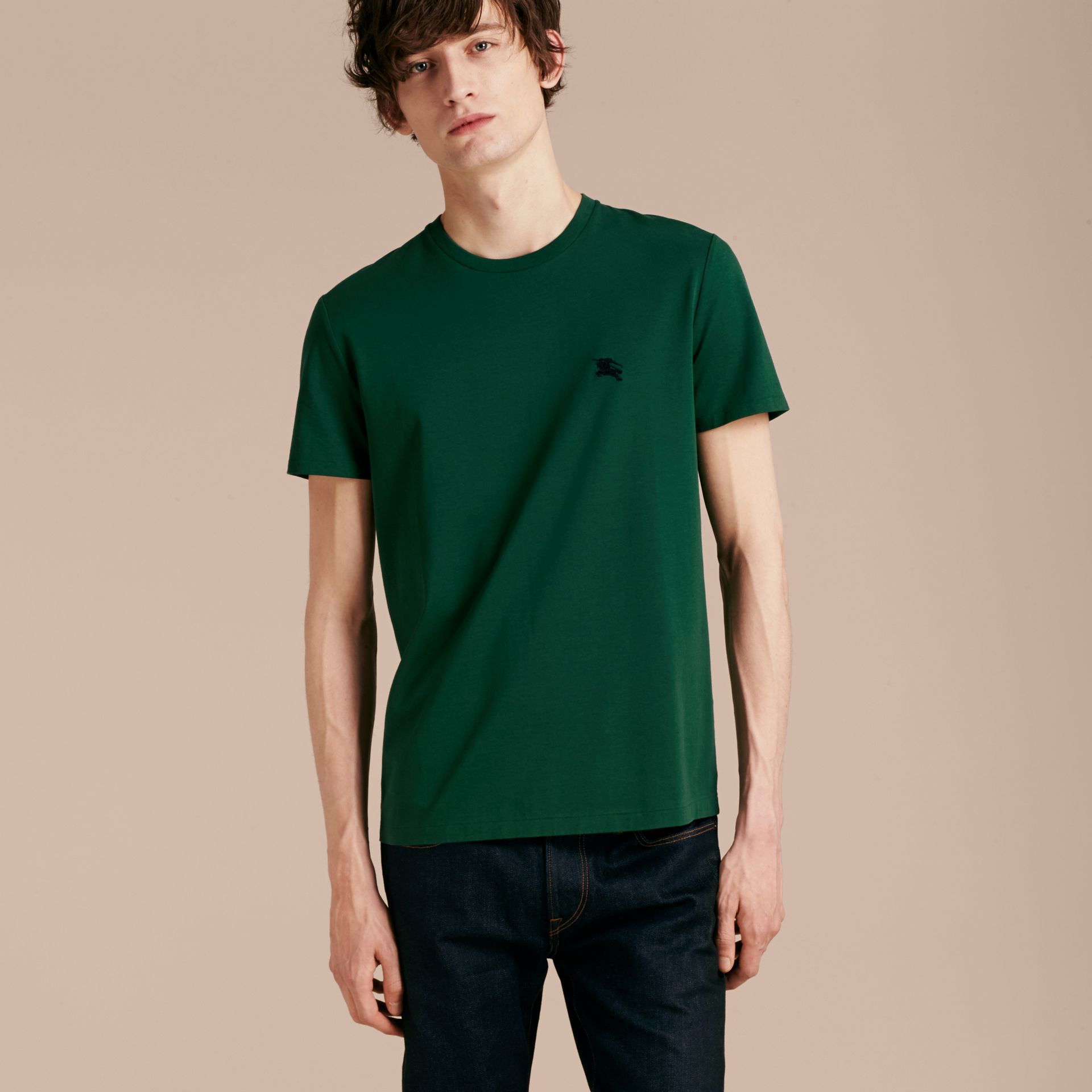 Racing green Liquid-soft Cotton T-Shirt Racing Green - gallery image 6
