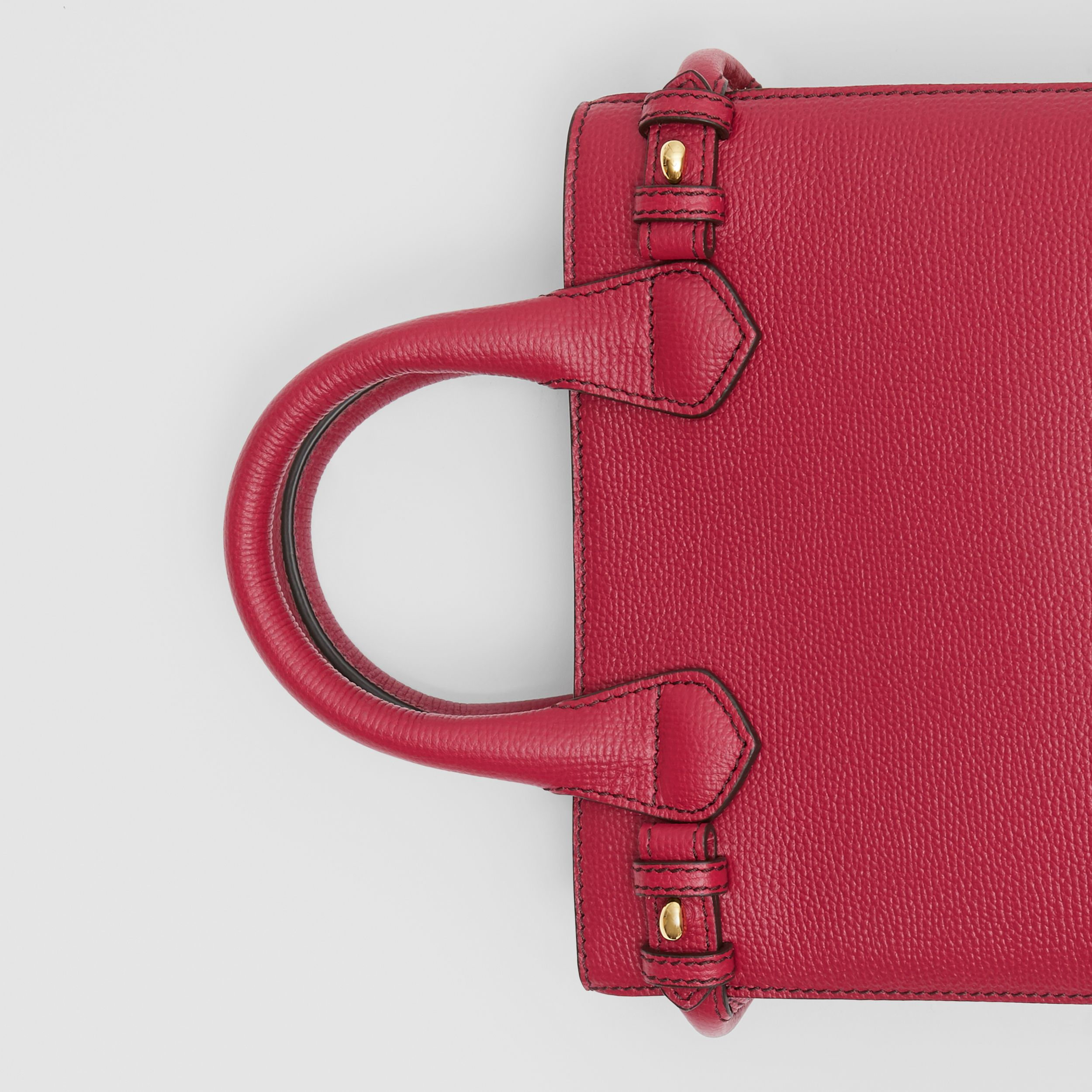 The Baby Banner in Leather and House Check in Russet Red - Women | Burberry - 2
