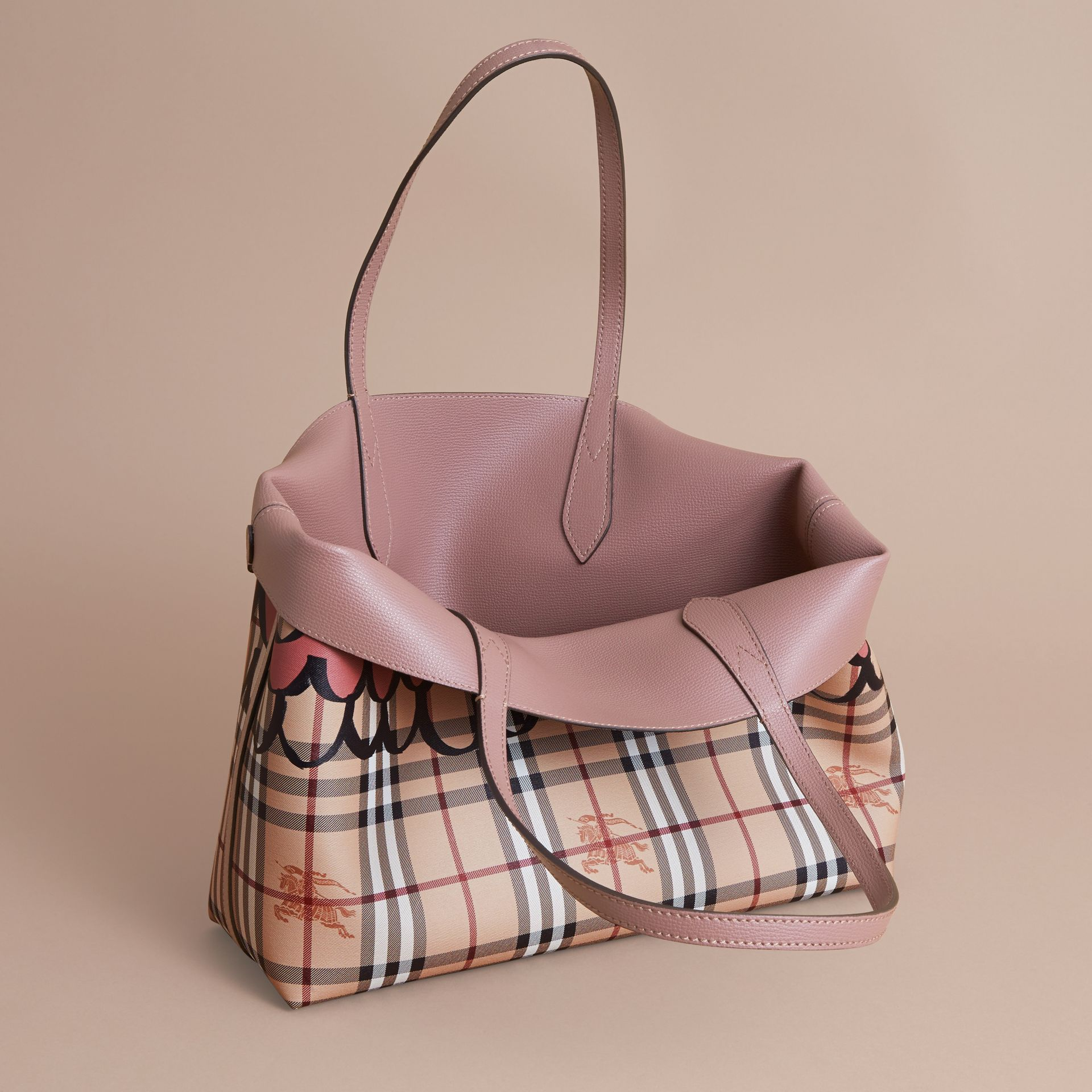 The Medium Reversible Tote in Trompe L'oeil Print - gallery image 6