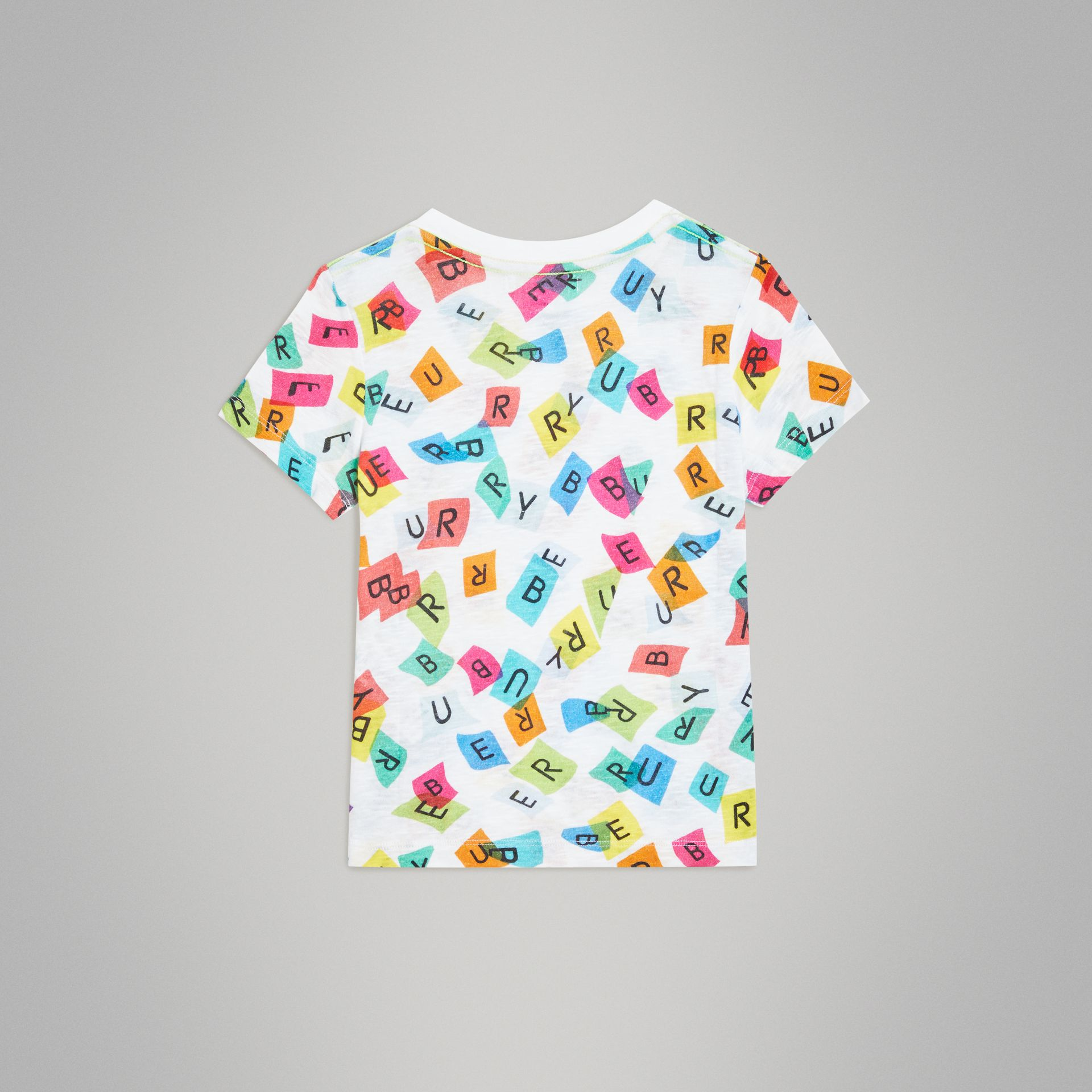 Confetti Letter Print Jersey T-shirt in White - Children | Burberry United Kingdom - gallery image 3