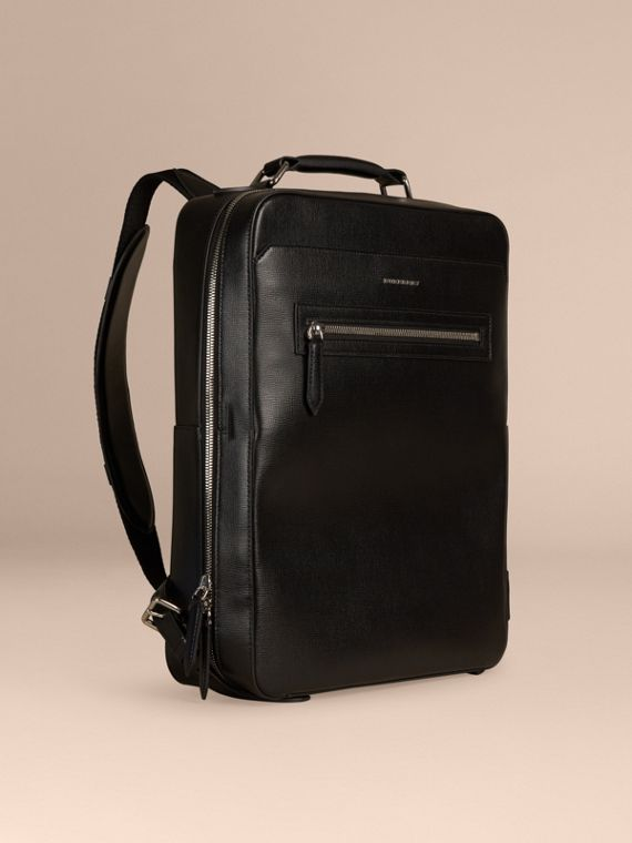 London Leather Backpack Black