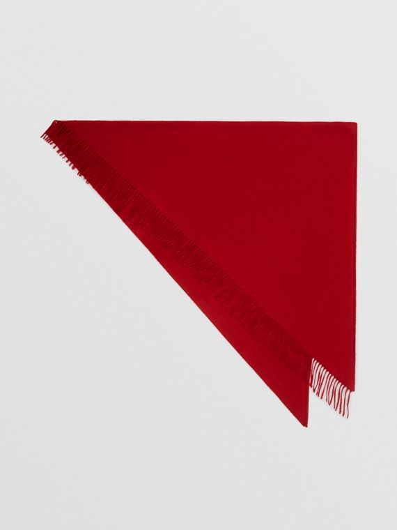 The Burberry Bandana in Embroidered Cashmere in Parade Red