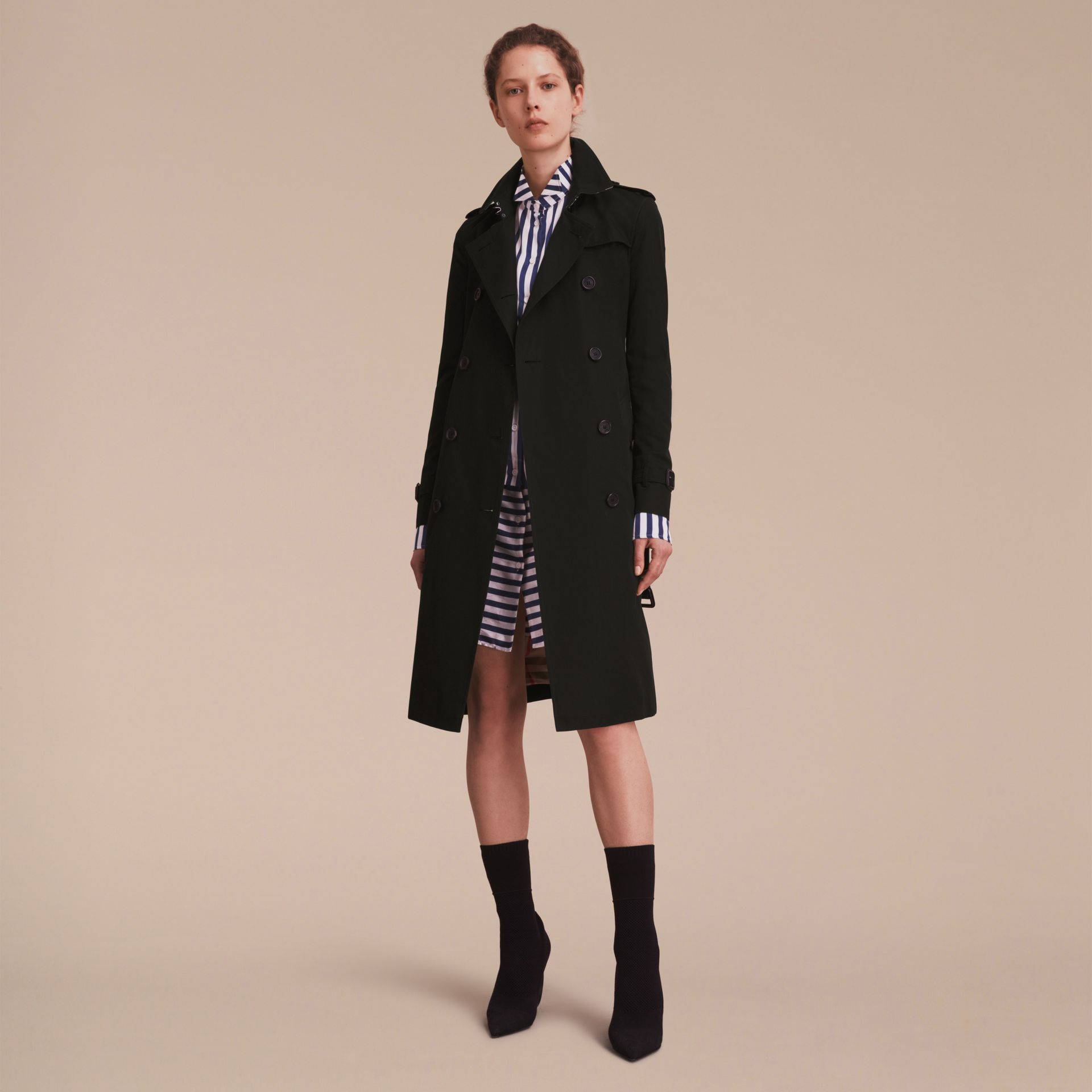 The Kensington – Extra-long Heritage Trench Coat in Black - gallery image 7