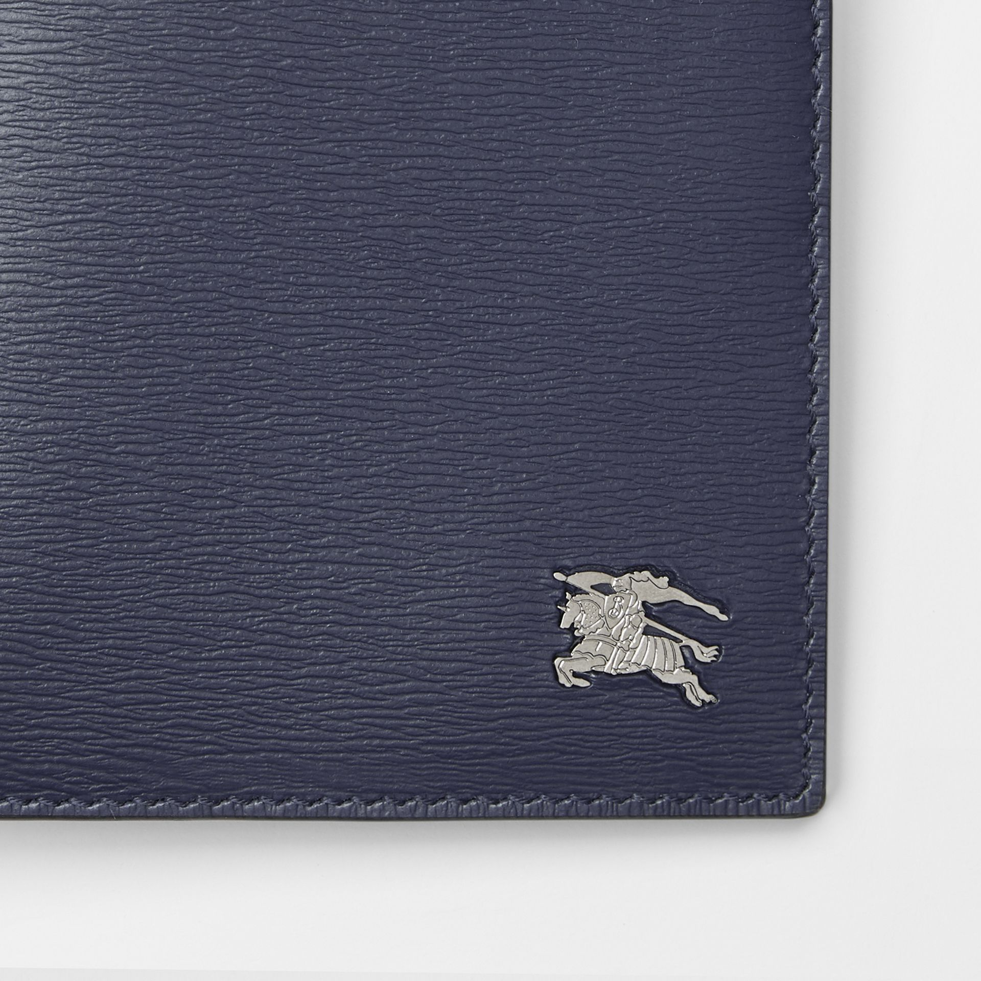 London Leather International Bifold Wallet in Navy - Men | Burberry - gallery image 1