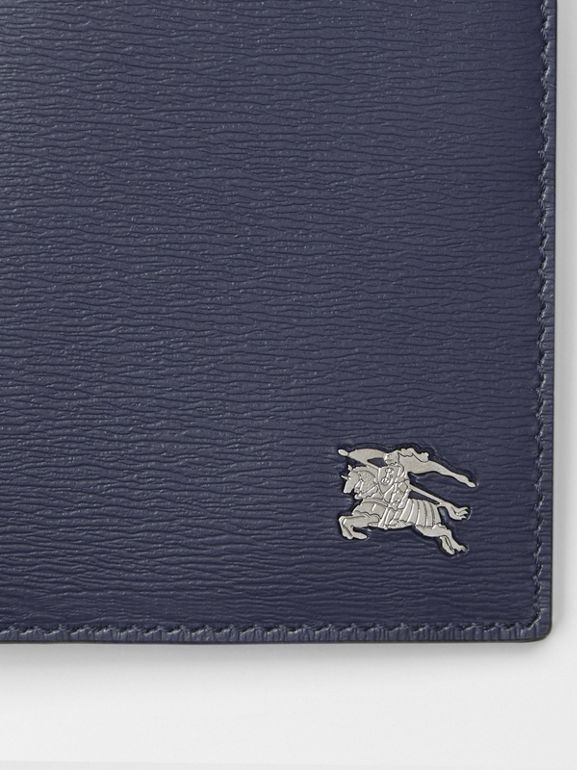 London Leather International Bifold Wallet in Navy - Men | Burberry Hong Kong - cell image 1