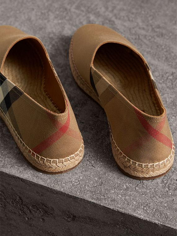 Canvas Check Espadrilles in Classic - Men | Burberry Singapore - cell image 3