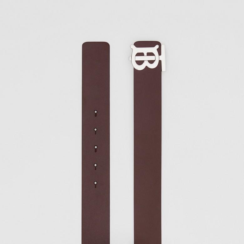 Burberry - Cinturón reversible en piel con monograma - 5