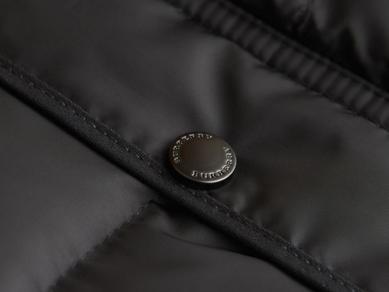Down-filled Hooded Gilet in Black - Boy | Burberry - cell image 1