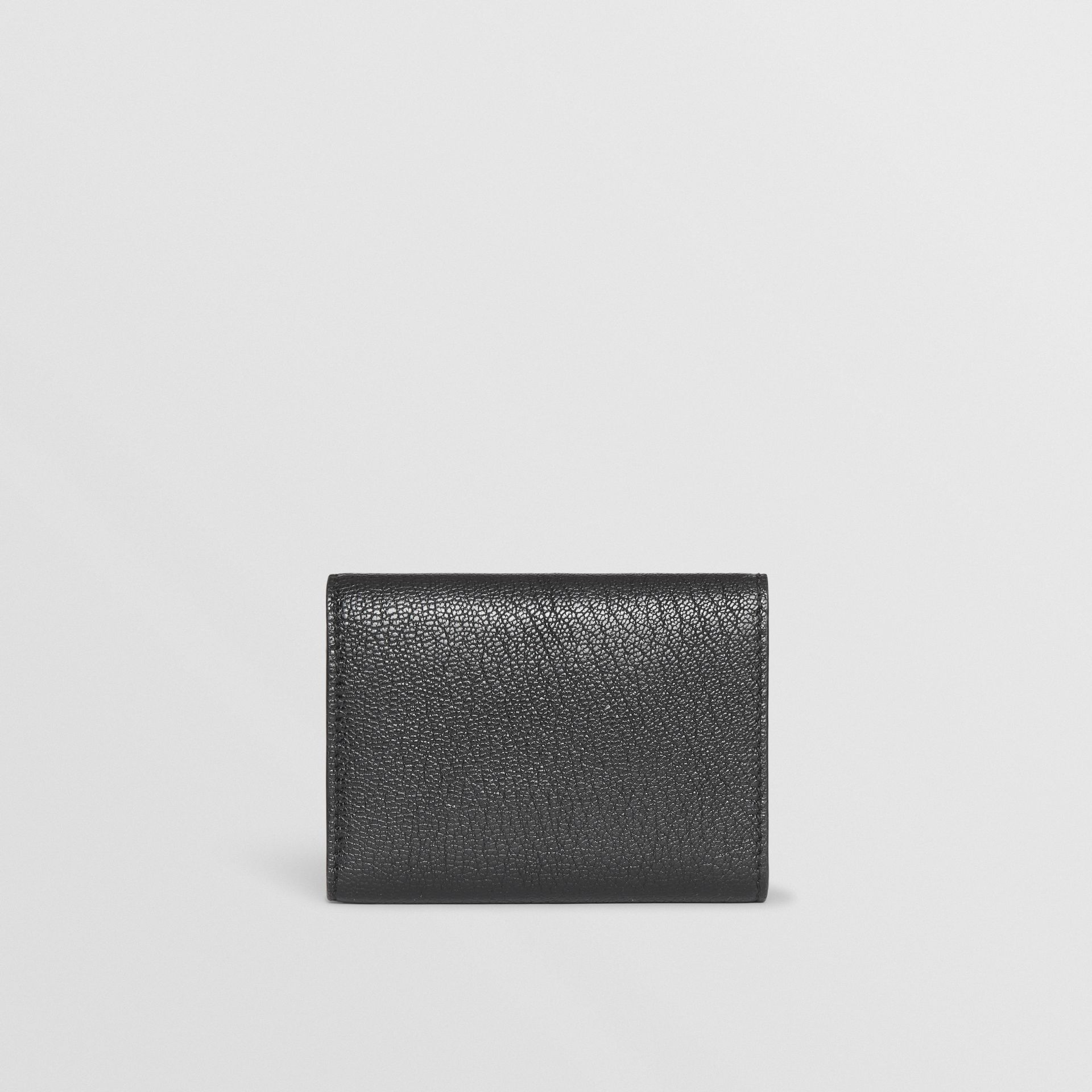 Small D-ring Leather Wallet in Black - Women | Burberry Canada - gallery image 4