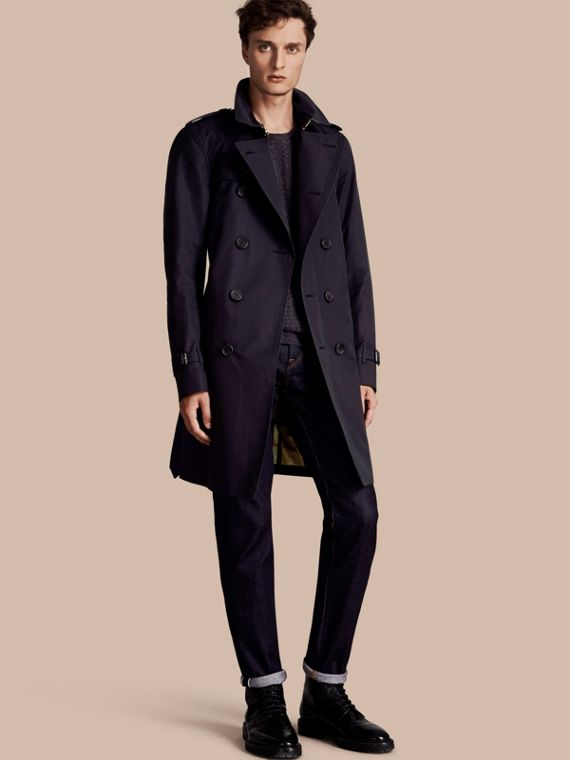 The Kensington – Long Heritage Trench Coat Navy